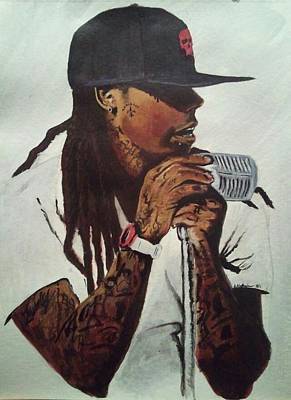 Lil Wayne Portraits Painting - Weezy by  Andre Alexander