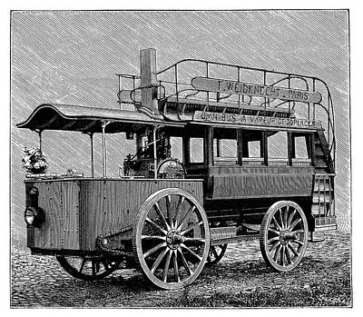 Weidknecht Steam Omnibus Art Print by Science Photo Library