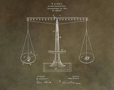 Of The Old School Mixed Media - Weighing Scale Patent by Dan Sproul