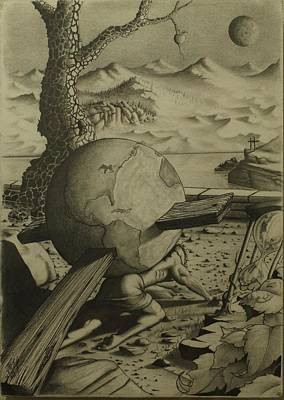 James Taylor Drawing - Weight Of The World by James Taylor