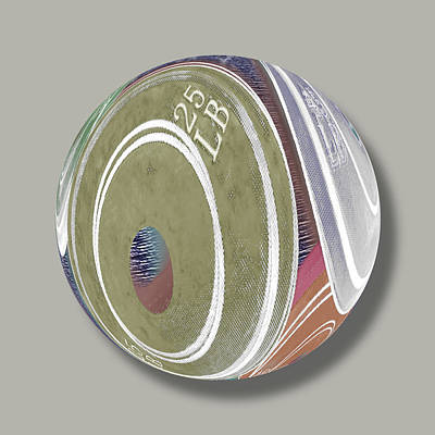 Globe Painting - Weight Plates Orb by Tony Rubino