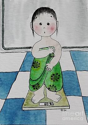 Weight Art Print by Qian Chen
