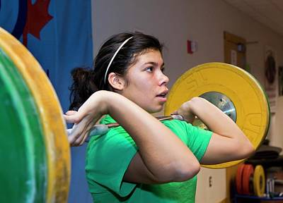 Athlete Photograph - Weightlifter Training by Jim West