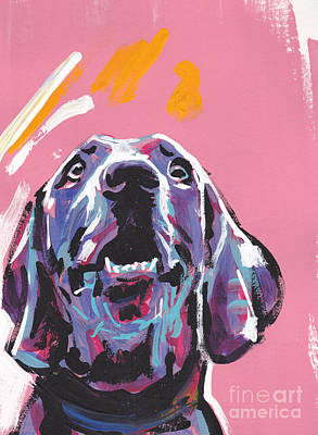 Weimaraner Painting - Weim Me Up by Lea S