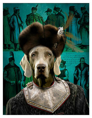 Painting - Weimaraner Art Canvas Print by Sandra Sij