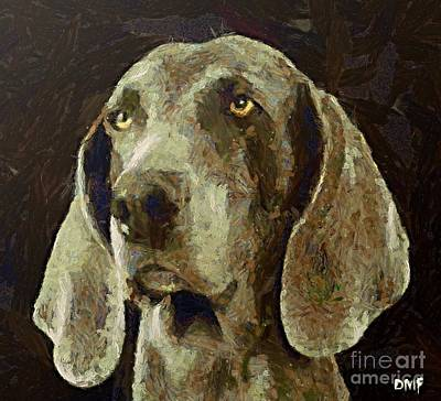 Dogs Painting - Weimaraner Dog by Dragica  Micki Fortuna