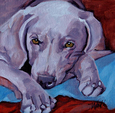 Painting - Weimaraner by Pattie Wall
