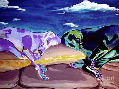 Dawgart Painting - Weimaraner - Sweet Dreams by Alicia VanNoy Call