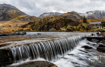 North Wales Digital Art - Weir At Ogwen by Adrian Evans