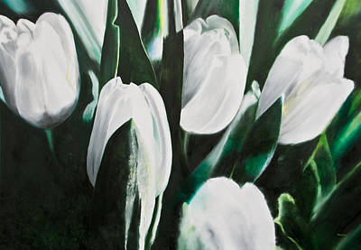 Cycles Painting - Weisse Tulpen IIi by Eckhard Besuden