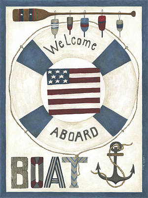 Patriotic Painting - Welcome Aboard by Cindy Shamp
