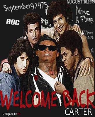 Miami Heat Mixed Media - Welcome Back Carter by HI Designs Amor Blu Group LLC