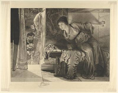 Alma Drawing - Welcome Footsteps Well-known Footsteps by After Sir Lawrence Alma-Tadema