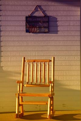 Rocking Chairs Photograph - Welcome Friends by Jeff Swan