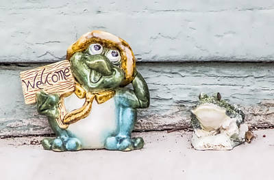 Digital Art - Welcome Frog by Photographic Art by Russel Ray Photos