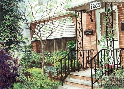 Brick Houses Painting - Welcome Home by Barbara Jewell