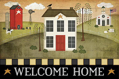 School Houses Painting - Welcome Home by Jennifer Pugh