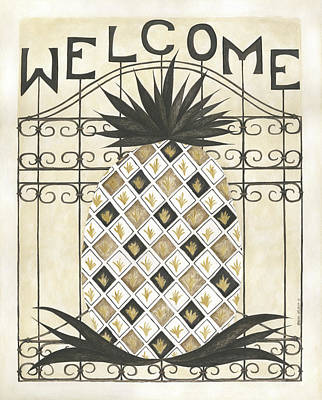 Painting - Welcome Pineapple by Cindy Shamp