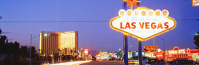 Welcome Sign Las Vegas Nv Art Print by Panoramic Images