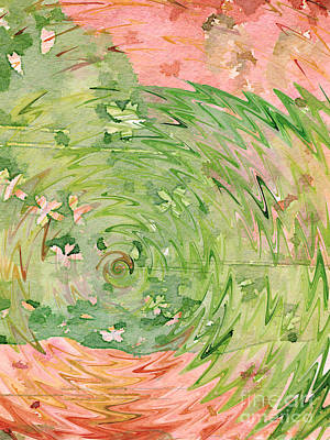 Digital Art - Welcome Spring Abstract Floral Digital Watercolor Painting 1 by Beverly Claire Kaiya