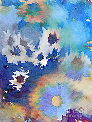 Digital Art - Welcome Spring Abstract Floral Digital Watercolor Painting 2 by Beverly Claire Kaiya