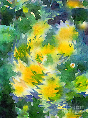 Digital Art - Welcome Spring Abstract Floral Digital Watercolor Painting 3 by Beverly Claire Kaiya
