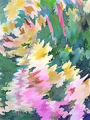 Digital Art - Welcome Spring Abstract Floral Digital Watercolor Painting 4 by Beverly Claire Kaiya