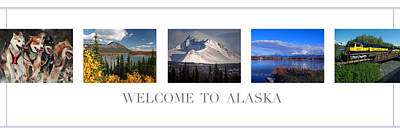 Train Tracks Photograph - Welcome To Alaska by Retro Images Archive