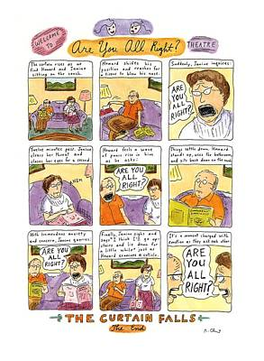 Theater Drawing - Welcome To Are You All Right? Theatre by Roz Chast