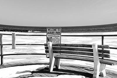 Welcome To Asbury Park In Black And White Art Print