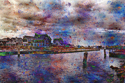 Atlantic Digital Art - Welcome To Bald Head Island IIi by Betsy Knapp