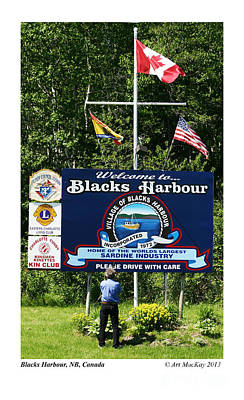 Welcome To Blacks Harbour Art Print