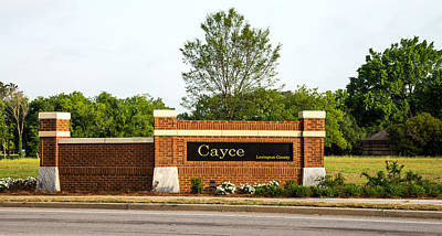 Photograph - Welcome To Cayce by Charles Hite