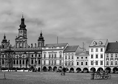 Townhouse Photograph - Welcome To Ceske Budejovice - Budweis Czech Republic by Christine Till