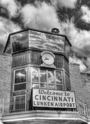 Welcome To Cincinnati 2 Bw Art Print