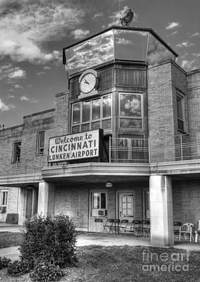 Photograph - Welcome To Cincinnati Bw by Mel Steinhauer