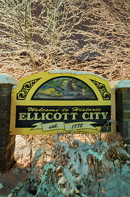 Photograph - Welcome To Ellicott City by Dana Sohr