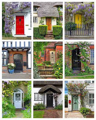 Welcome To England - Cottage Doors Art Print by Gill Billington