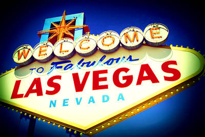 Mixed Media - Welcome To Fabulous Las Vegas by Michelle Dallocchio
