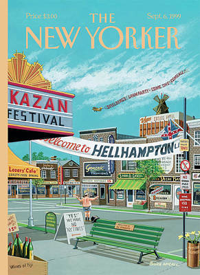 Welcome To Hellhampton Art Print by Bruce McCall