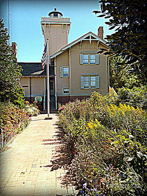 Photograph - Welcome To Hereford Inlet Lighthouse by Pamela Hyde Wilson