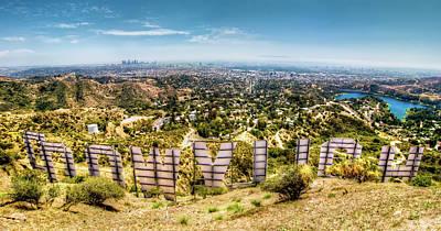 Landmarks Photo Royalty Free Images - Welcome to Hollywood Royalty-Free Image by Natasha Bishop