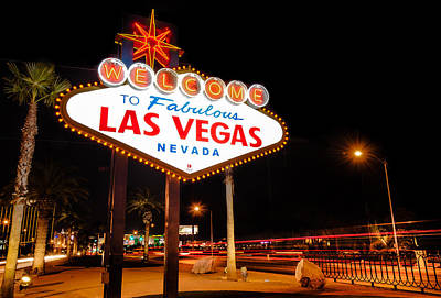 Viva Las Vegas Photograph - Welcome To Las Vegas - Neon Sign by Gregory Ballos
