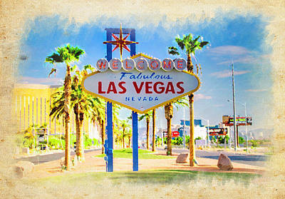 Photograph - Welcome To Las Vegas by Ricky Barnard