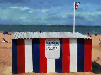 Welcome To Margate's Main Sands Art Print by Steve Taylor