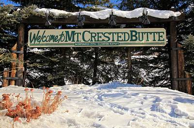 Photograph - Welcome To Mt Crested Butte by Adam Jewell