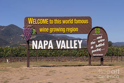 Winery Signs Photograph - Welcome To Napa Valley California Dsc1681 by Wingsdomain Art and Photography