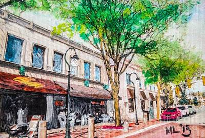 Plein Air Mixed Media - Welcome To Naperville Illinois by Maria Leah Comillas