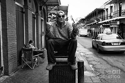Photograph - Welcome To New Orleans Mono by John Rizzuto
