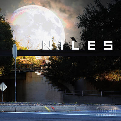 Welcome To Niles California Gateway To The Stars 7d12755 Square Art Print